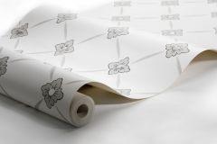4505 cikkszámú tapéta.Rajzolt,virágmintás,bézs-drapp,fehér,lemosható,vlies tapéta