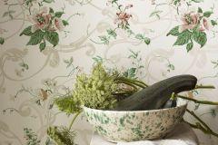 4511 cikkszámú tapéta.Barokk-klasszikus,rajzolt,virágmintás,fehér,piros-bordó,sárga,zöld,lemosható,vlies tapéta