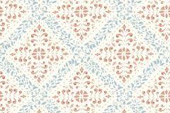 4514 cikkszámú tapéta.Barokk-klasszikus,rajzolt,fehér,kék,piros-bordó,lemosható,vlies tapéta