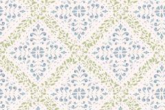 4516 cikkszámú tapéta.Barokk-klasszikus,különleges motívumos,rajzolt,fehér,kék,szürke,zöld,lemosható,vlies tapéta