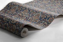 4521 cikkszámú tapéta.Barokk-klasszikus,kék,narancs-terrakotta,szürke,lemosható,vlies tapéta
