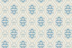 4527 cikkszámú tapéta.Barokk-klasszikus,bézs-drapp,bronz,kék,vajszín,lemosható,vlies tapéta