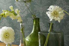 4532 cikkszámú tapéta.Barokk-klasszikus,bézs-drapp,vajszín,zöld,lemosható,vlies tapéta