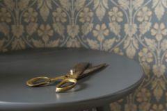 4535 cikkszámú tapéta.Barokk-klasszikus,barokk-klasszikus,bronz,kék,szürke,lemosható,vlies tapéta