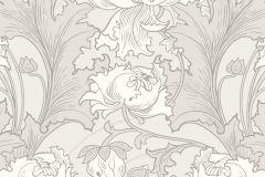4540 cikkszámú tapéta.Barokk-klasszikus,virágmintás,bézs-drapp,szürke,lemosható,vlies tapéta