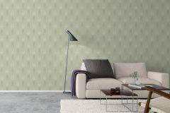 4542 cikkszámú tapéta.Barokk-klasszikus,csíkos,zöld,lemosható,vlies tapéta