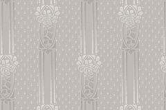 4543 cikkszámú tapéta.Barokk-klasszikus,csíkos,bézs-drapp,lila,lemosható,vlies tapéta