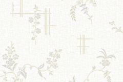 4549 cikkszámú tapéta.Barokk-klasszikus,természeti mintás,virágmintás,fehér,kék,lila,vajszín,lemosható,vlies tapéta