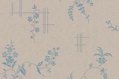 4550 cikkszámú tapéta.Barokk-klasszikus,természeti mintás,virágmintás,barna,kék,lemosható,vlies tapéta
