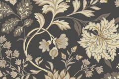 6702 cikkszámú tapéta.Retro,virágmintás,barna,bézs-drapp,vajszínű,lemosható,vlies tapéta