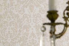 6718 cikkszámú tapéta.Barokk-klasszikus,bézs-drapp,fehér,lemosható,vlies tapéta