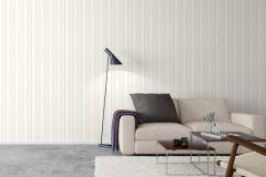 6726 cikkszámú tapéta.Csíkos,fehér,narancs-terrakotta,lemosható,illesztés mentes,vlies tapéta