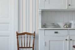 6727 cikkszámú tapéta.Csíkos,fehér,kék,sárga,lemosható,illesztés mentes,vlies tapéta