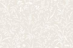 33503 cikkszámú tapéta.Különleges motívumos,rajzolt,retro,természeti mintás,virágmintás,bézs-drapp,fehér,lemosható,vlies tapéta