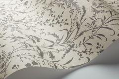 33504 cikkszámú tapéta.Különleges motívumos,rajzolt,retro,természeti mintás,virágmintás,bézs-drapp,zöld,lemosható,vlies tapéta