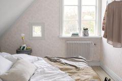 33536 cikkszámú tapéta.Barokk-klasszikus,rajzolt,retro,természeti mintás,virágmintás,pink-rózsaszín,lemosható,vlies tapéta