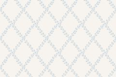 33543 cikkszámú tapéta.Geometriai mintás,különleges motívumos,rajzolt,retro,természeti mintás,virágmintás,fehér,kék,lemosható,vlies tapéta