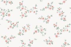 38611 cikkszámú tapéta.Virágmintás,fehér,pink-rózsaszín,lemosható,vlies tapéta