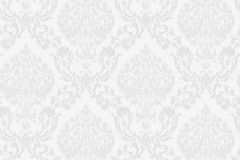38638 cikkszámú tapéta.Barokk-klasszikus,fehér,szürke,lemosható,vlies tapéta