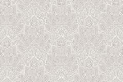 3017 cikkszámú tapéta.Virágmintás,csipke,barokk-klasszikus,különleges motívumos,fehér,szürke,lemosható,vlies tapéta