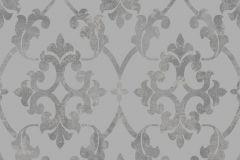 3020 cikkszámú tapéta.Virágmintás,természeti mintás,barokk-klasszikus,különleges motívumos,szürke,lemosható,vlies tapéta