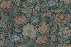 3561 cikkszámú tapéta.Virágmintás,kék,piros-bordó,lemosható,vlies tapéta