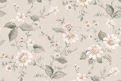 3572 cikkszámú tapéta.Virágmintás,pink-rózsaszín,szürke,lemosható,vlies tapéta