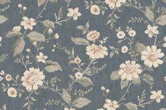 3573 cikkszámú tapéta.Virágmintás,kék,pink-rózsaszín,lemosható,vlies tapéta
