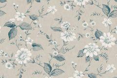 3576 cikkszámú tapéta.Virágmintás,kék,szürke,lemosható,vlies tapéta