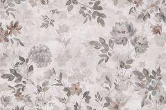 3594 cikkszámú tapéta.Virágmintás,pink-rózsaszín,szürke,súrolható,vlies poszter, fotótapéta