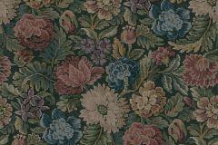 3595 cikkszámú tapéta.Virágmintás,kék,piros-bordó,zöld,súrolható,vlies poszter, fotótapéta