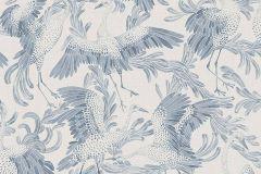 3129 cikkszámú tapéta.állatok,fehér,kék,lemosható,vlies tapéta