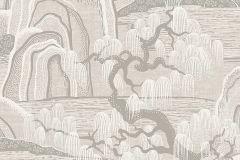 3134 cikkszámú tapéta.Rajzolt,természeti mintás,szürke,lemosható,vlies tapéta