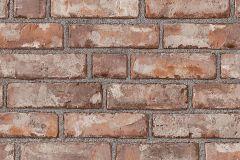 1160 cikkszámú tapéta.Kőhatású-kőmintás,különleges felületű,barna,narancs-terrakotta,lemosható,vlies tapéta