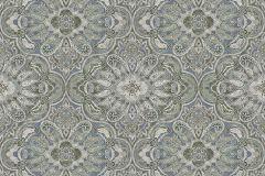 1166 cikkszámú tapéta.Különleges felületű,különleges motívumos,marokkói ,vajszín,zöld,lemosható,vlies tapéta