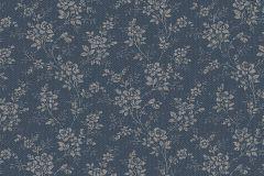 1177 cikkszámú tapéta.Különleges felületű,virágmintás,kék,lemosható,vlies tapéta