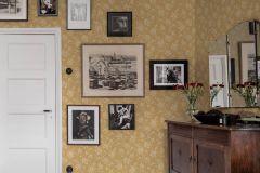 1178 cikkszámú tapéta.Különleges felületű,virágmintás,sárga,lemosható,vlies tapéta