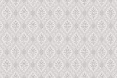 4016 cikkszámú tapéta.Textil hatású,geometriai mintás,barokk-klasszikus,különleges motívumos,szürke,lila,lemosható,vlies tapéta