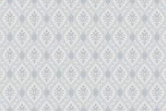 4018 cikkszámú tapéta.Textil hatású,geometriai mintás,barokk-klasszikus,különleges motívumos,fehér,szürke,kék,lemosható,vlies tapéta