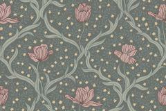4033 cikkszámú tapéta.Virágmintás,textil hatású,természeti mintás,különleges motívumos,pink-rózsaszín,sárga,zöld,lemosható,vlies tapéta