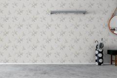 4035 cikkszámú tapéta.Virágmintás,textil hatású,különleges motívumos,fehér,szürke,kék,bézs-drapp,lemosható,vlies tapéta
