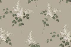 4036 cikkszámú tapéta.Virágmintás,különleges motívumos,fehér,bézs-drapp,zöld,lemosható,vlies tapéta