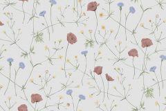 4038 cikkszámú tapéta.Virágmintás,természeti mintás,gyerek,fehér,szürke,kék,piros-bordó,sárga,zöld,lemosható,vlies tapéta