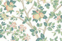 7650 cikkszámú tapéta.Rajzolt,természeti mintás,virágmintás,barna,bézs-drapp,fehér,narancs-terrakotta,zöld,lemosható,vlies tapéta