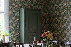 7666 cikkszámú tapéta.Virágmintás,bézs-drapp,narancs-terrakotta,piros-bordó,zöld,lemosható,vlies tapéta