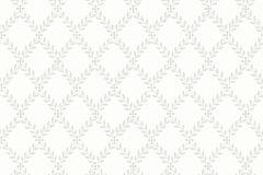 7670 cikkszámú tapéta.Barokk-klasszikus,kockás,természeti mintás,szürke,lemosható,vlies tapéta