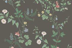 7679 cikkszámú tapéta.Barokk-klasszikus,természeti mintás,virágmintás,fekete,pink-rózsaszín,zöld,lemosható,vlies tapéta