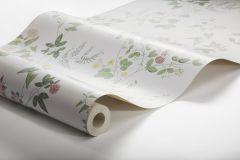 7680 cikkszámú tapéta.Barokk-klasszikus,természeti mintás,virágmintás,fehér,piros-bordó,zöld,lemosható,vlies tapéta