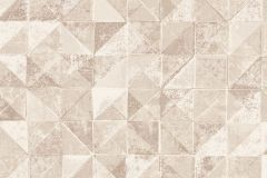6454 cikkszámú tapéta.Absztrakt,geometriai mintás,különleges felületű,barna,bézs-drapp,vajszín,lemosható,vlies tapéta