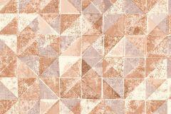 6455 cikkszámú tapéta.Absztrakt,geometriai mintás,különleges felületű,barna,piros-bordó,lemosható,vlies tapéta